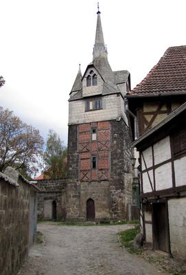 Einige Türme der Stadtmauer von Quedlinburg sind noch gut erhalten, darunter der Schreckensturm