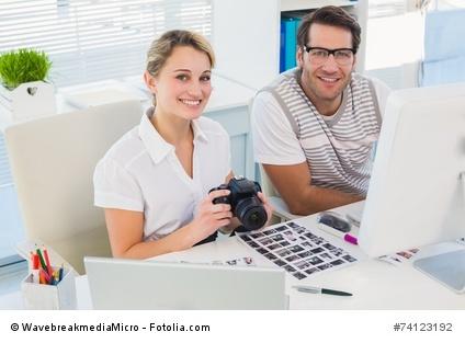 Casual photo editors with camera