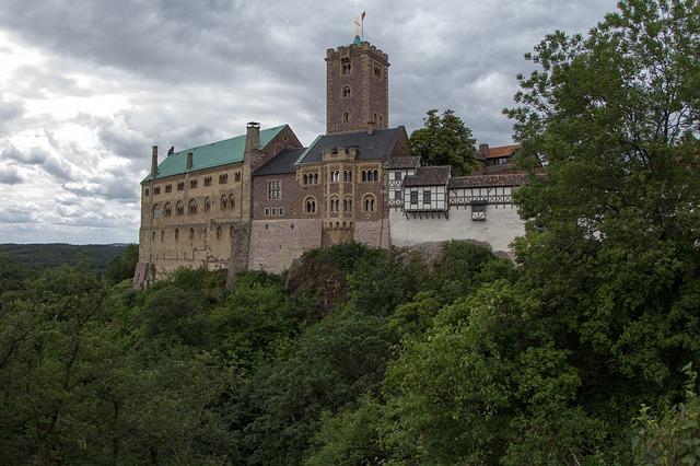 Die Wartburg war Schauplatz zahlreicher historischer Ereignisse, darunter die Wartburgfeste in den Jahren 1817 und 1848